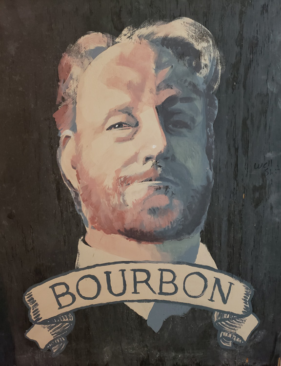 Ranger Bourbon -painting of his wedding photo