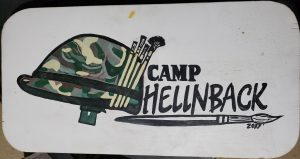Claymore's Camp HellNBack sign 2017