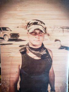 Strong Tom on playa -wood print