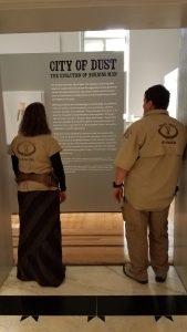 Rangers at the Smithsonian BM exhibit