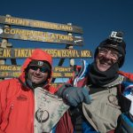 Rangers on summit of Kilimanjaro