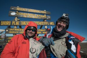 Rangers on summit of Kilimanjaro