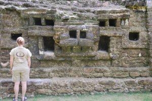 Ranger at Lamanai temple
