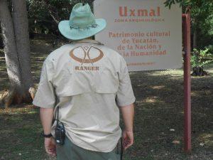 Ranger at Uxmal