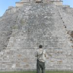 Ranger at Uxmal temple