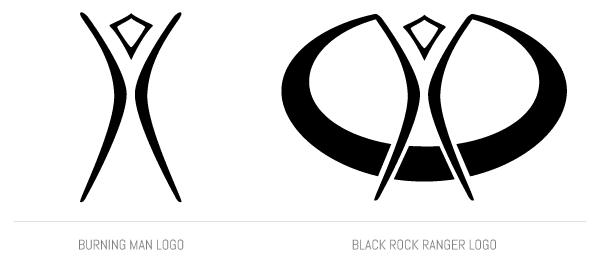 Burning Man Logo vs Black Rock Ranger Logo